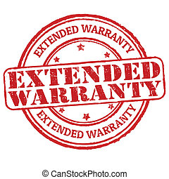 Extended warranty stamp - Extended warranty grunge rubber...