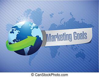 marketing goals sign illustration design