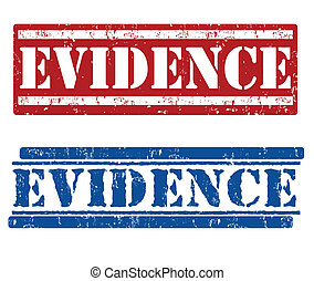 Evidence stamps - Evidence grunge rubber stamps on white,...