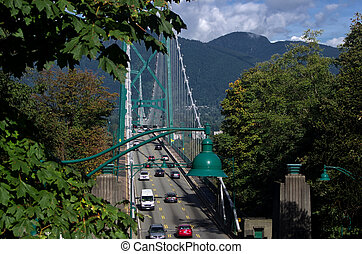 Lions Gate bridge - Lions Gate bridge in Vancouver, Canada,...