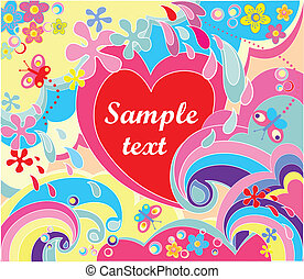 Colorful valentine poster