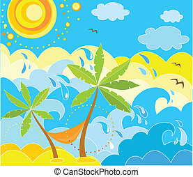 Summer holiday background