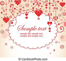 Valentine red border