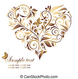 Vintage heart shape