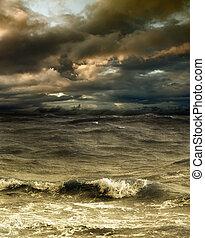 Storm - Grim fantastic landscape with a storm
