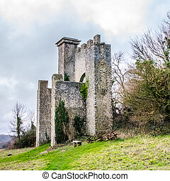 Folly overlooking Slindon West Sussex - Folly overlooking...