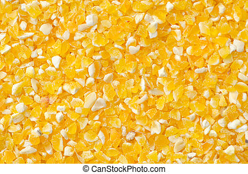 Closeup of tinned whole kernel corn, it could be used as...