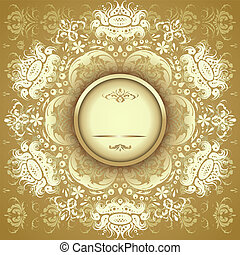 golden floral pattern