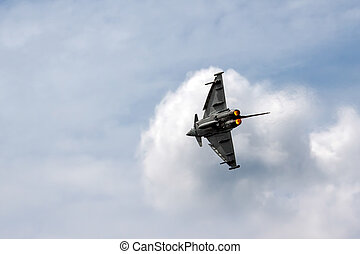 Eurofighter Typhoon aerial display at Biggin Hill Airshow