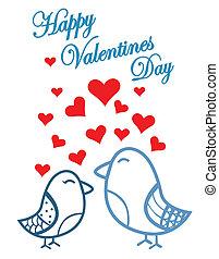 Cute birds Valentines Day