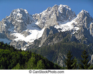 High hills - High alpine peaks in Austria