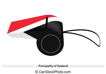 A Whistle of The Principality of Sealand - An Illustration...