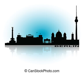 Berlin Cityscape_2 - An abstract vector illustration of the...