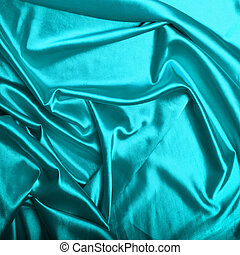 Turquoise silk background texture
