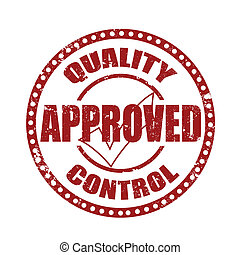 quality approved control grunge on whit , vector...