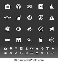 General healthcare icons on gray background, stock vector