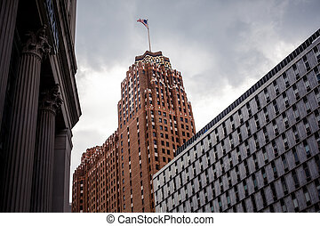 Downtown Detroit - View of abandoned downtown of Detroit,...