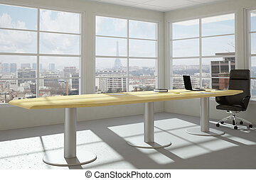 Modern urban office room - Empty modern office room with...