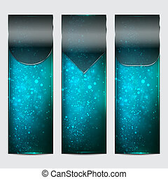 Abstract blue banners - abstract blue colorful website...