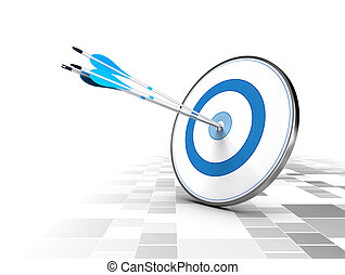Business or Corporate Strategy Concept - Three arrows in the...