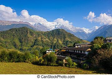 Ghandruk village in the Annapurna region - Ghandruk village...