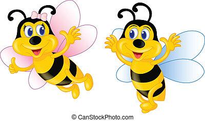 Flying Cute Bee