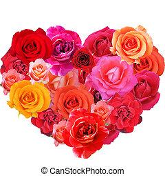 heart,roses