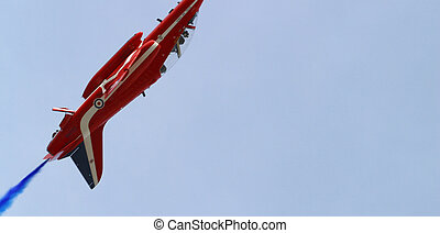 The Red Arrows in formation at the Malta Air show - Fighter...