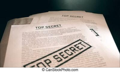 Top secret documents.