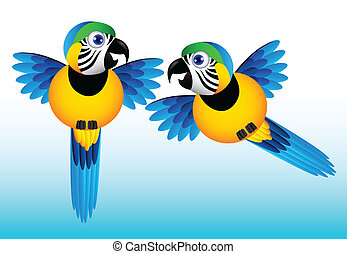 Parakeet Birds Vector