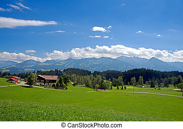 Allgau Bavaria - beautiful mountain range in allgau bavaria...