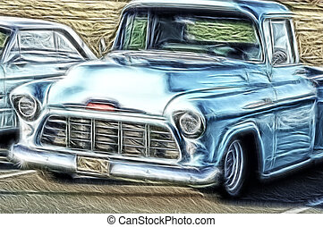 Vintage Truck - Abstract Truck Picture