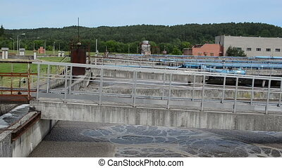 waterworks pools pipes - Panorama of water treatment water...