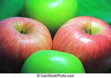green red apple