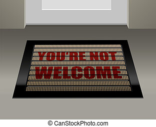 Doormat Not Welcome - Doormat that says, that you are not...