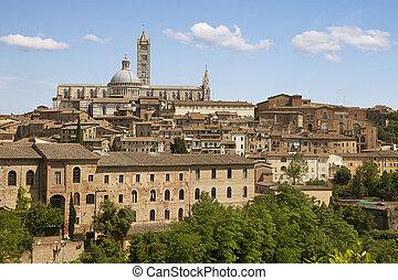 Sienna city. Tuscany, Italy - Siena's Duomo, one of Italy's...
