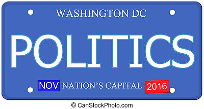 Politics Washington DC License Plate - An imitation...