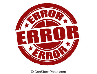 Error stamp - Stamp with word error inside, vector...
