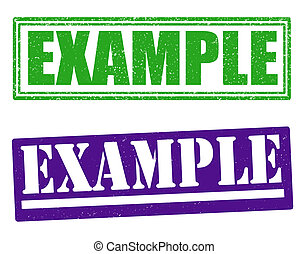 Example stamps - Example set of grunge stamps, vector...