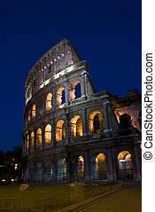 Coliseum - detail of the famous ancient amphitheater in Rome