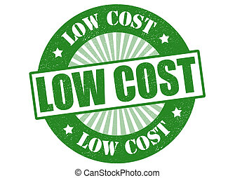Low cost stamp - Low cost green grunge stamp, vector...