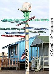 Sign post - northernmost US sign post in Barrow, Alaska