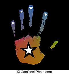 Abstract Star Hand