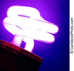 CFL Bulb - Close up of CFL Bulb