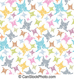 Vector Butterflies Seamless Background