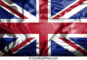 Great Britain waving flag