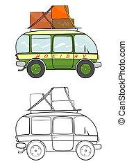 Minivan - Cartoon minivan