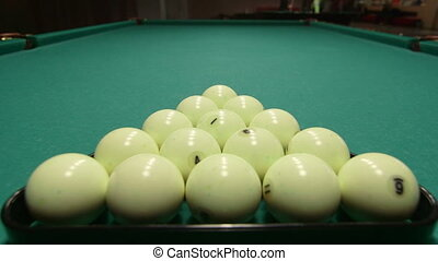 Russian billiards opening break shot
