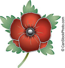 Remembrance Poppy editable vector graphic