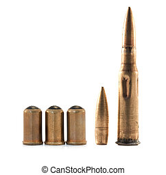 ammunition isolated on white background
